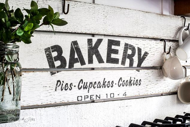 Fake it 'till ya make it with a diy shiplap styled bakery sign ...