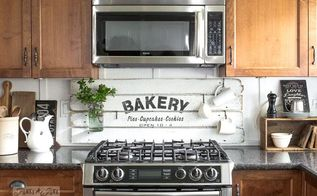 fake it till ya make it with a shiplap styled bakery sign, how to, kitchen backsplash, kitchen design, painting