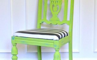 blue and green chair makeover, painted furniture
