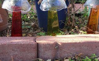 solar powered mushroom lights, gardening, go green, lighting