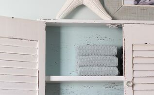 shutter cabinet makeover, chalk paint, painted furniture, repurposing upcycling, shelving ideas