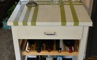 kitchen cart transformation, kitchen island, painted furniture, repurposing upcycling