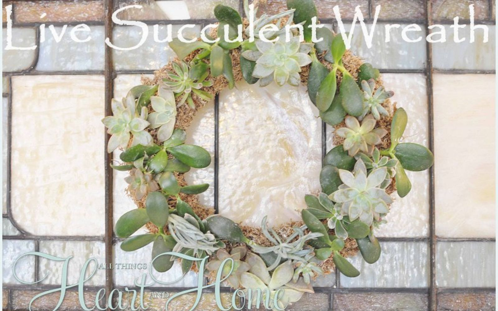 s 31 gorgeous spring wreaths that will make your neighbors smile, crafts, seasonal holiday decor, wreaths, Fill a form with a few live succulents
