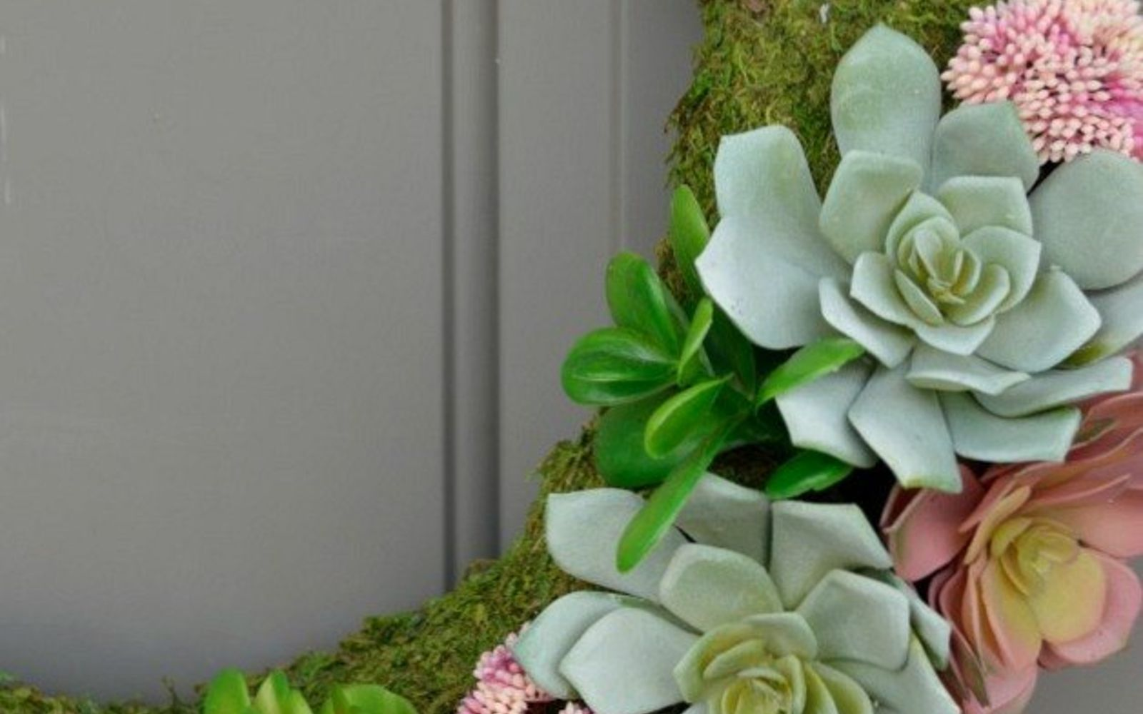 s 31 gorgeous spring wreaths that will make your neighbors smile, crafts, seasonal holiday decor, wreaths, Pair succulents and moss for a natural look