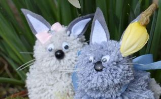 diy easter bunnies easterpreview, crafts, easter decorations, seasonal holiday decor