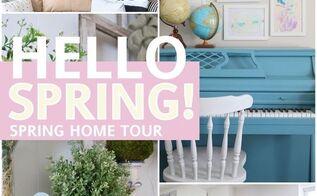 hello spring home tour, home decor, seasonal holiday decor