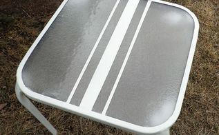 easy peasy outdoor table upcycle, outdoor furniture, painted furniture