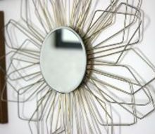 sunburst mirror from coat hangers, crafts, diy, wall decor