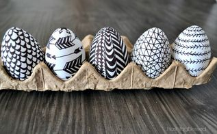 sharpie doodle easter eggs, crafts, easter decorations, seasonal holiday decor