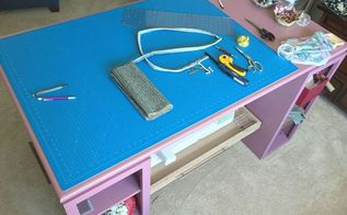 the perfect diy craft table, diy, painted furniture, woodworking projects