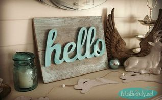 super easy hello spring palleta art, crafts, diy, wall decor, woodworking projects
