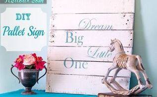diy pallet sign, crafts, pallet