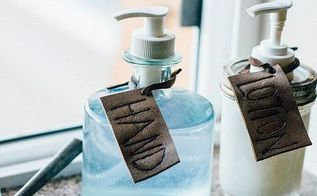 leather soap tags, crafts, how to, small bathroom ideas