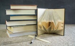 folded books, crafts, how to, repurposing upcycling, Supplies