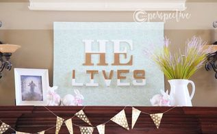 foam core fabric letters and paint easter art, crafts, easter decorations, seasonal holiday decor