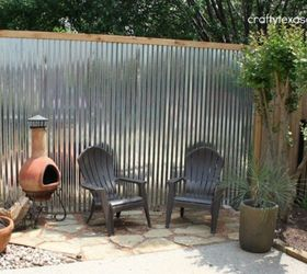 make an outdoor accent wall from tin