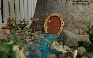 horseshoe fairy door, crafts, gardening, outdoor living