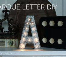 mini marquee letter diy hack, crafts, diy, lighting