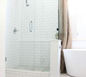 our diy farmhouse styled master bathroom renovation bathroom ideas home improvement rustic furniture