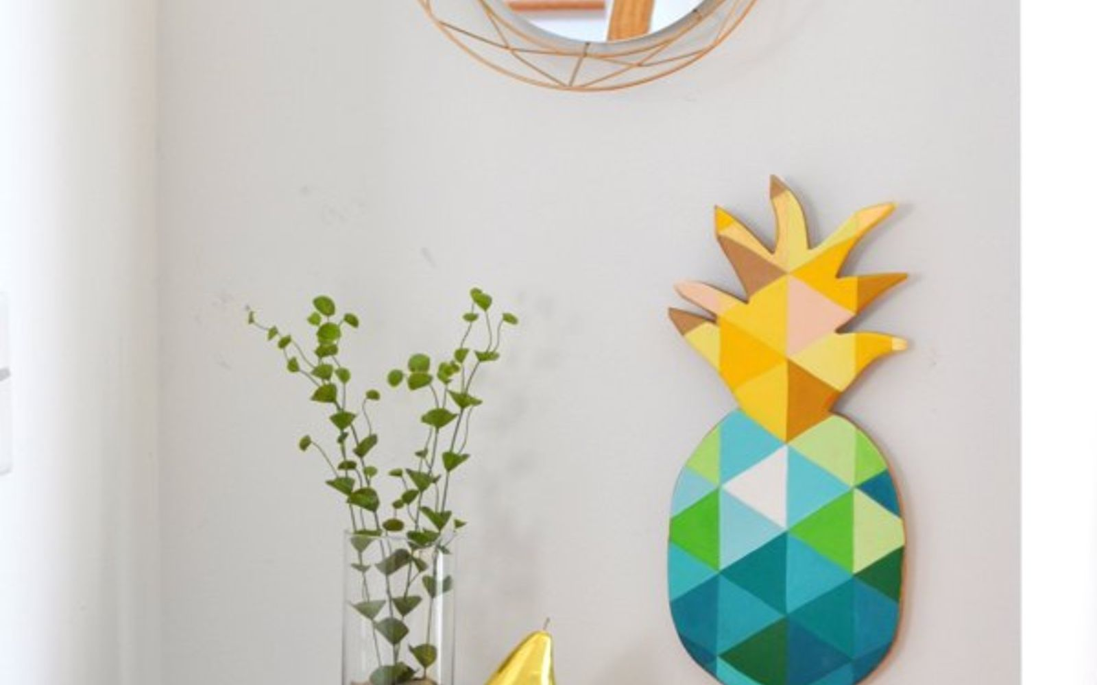 s these are the hottest diy spring trends of 2016, crafts, seasonal holiday decor, Paint geometric art