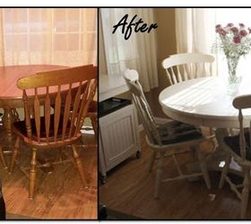 My Sisteru0027s Table And Chairs Repainted In Old Ochre (Annie Sloan Chalk Paint ).
