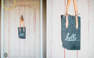 repurposed slate welcome sign, crafts, how to, repurposing upcycling