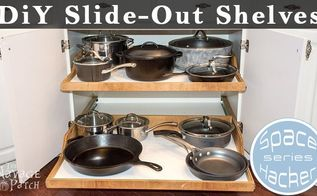 diy slide out shelves, diy, shelving ideas, woodworking projects