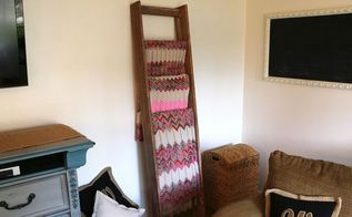 how to make a blanket ladder using wood i got from a bed, bedroom ideas, diy, how to, organizing, repurposing upcycling, woodworking projects