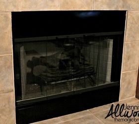 Update Your BRASS Fireplace Trim and Outdated Fireplace Tile ...
