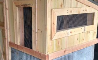 the recycled chicken coop pallet project, diy, homesteading, outdoor living, pallet, woodworking projects, The vented windows