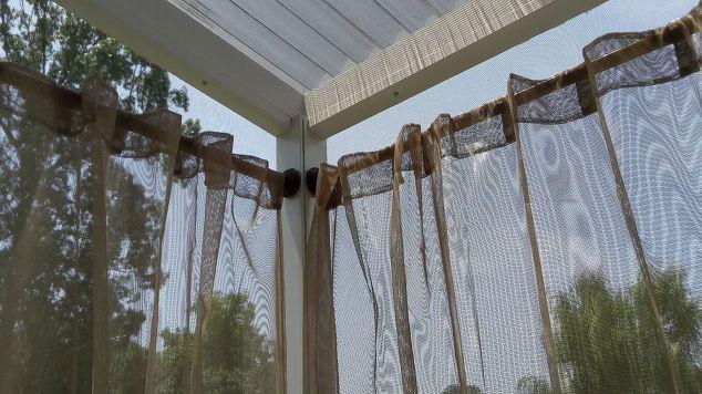 Door Curtains cheap outdoor curtains : Outdoor Curtain Rods for Aluminum Screen Room | Hometalk