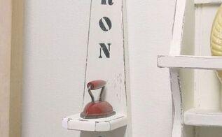 miniature iron display shelf, repurposing upcycling, shelving ideas