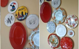 decorative plate wall, home decor, repurposing upcycling, wall decor