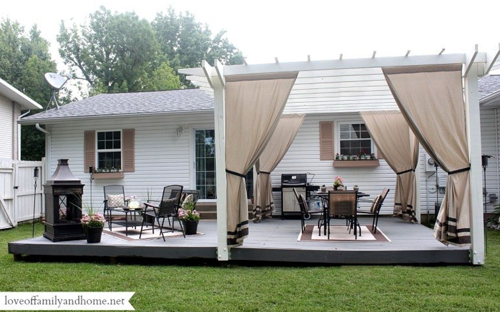 s 11 tips tricks for making your diy deck look amazing, decks, Put up a pergola to make a shady corner