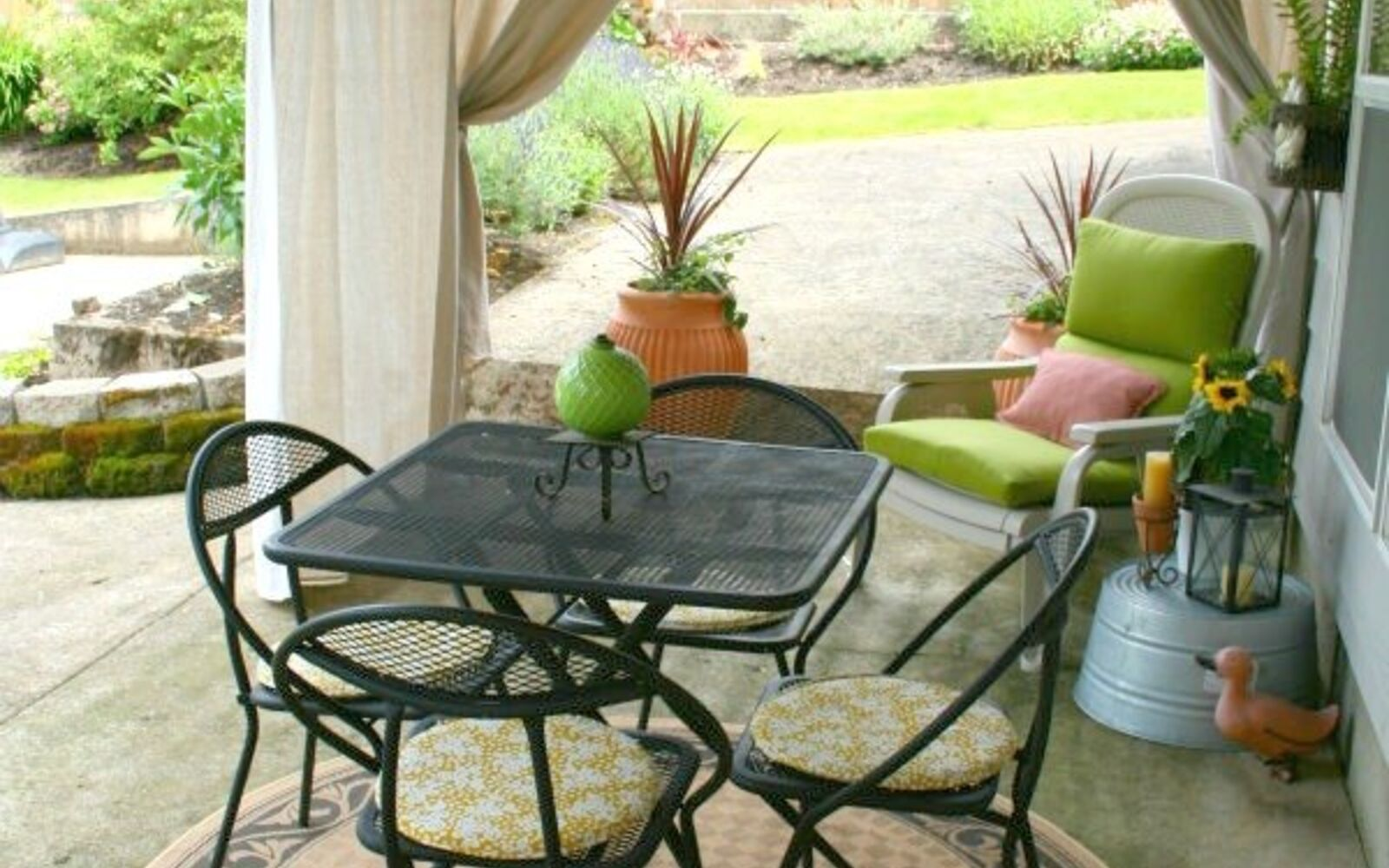s 11 tips tricks for making your diy deck look amazing, decks, Hang drapes to make it more secluded