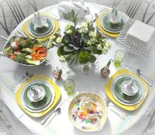 spring easter tablescape with source list, easter decorations, seasonal holiday decor