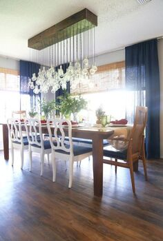 diy multi bulb chandelier, dining room ideas, diy, how to, lighting, woodworking projects