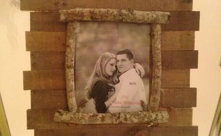 repurposed picture frames, crafts, pallet