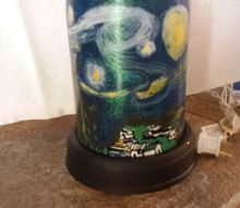 another starry night light, crafts, lighting