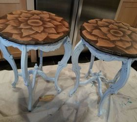 Dumpster Find Stain Painted Shabby Chic Side Tables, Painted Furniture, Shabby  Chic