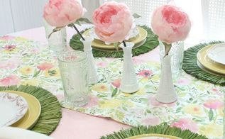 our colorful and thrifty spring tablescape 3 different ways, home decor, seasonal holiday decor