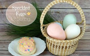speckled eggs for spring, crafts, easter decorations, seasonal holiday decor