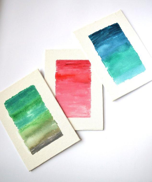 Ombre Watercolor Canvas Diy Hometalk