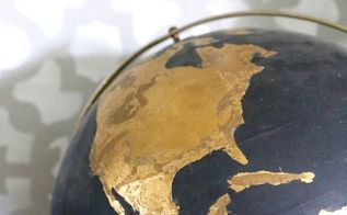 diy black gold globe, crafts, how to