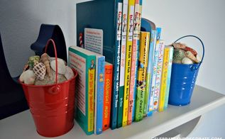 how to make beach pail bookends, crafts, how to, repurposing upcycling