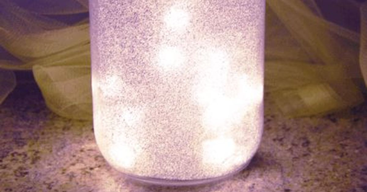 Diy Glitter Fairy Mason Jar Light Hometalk
