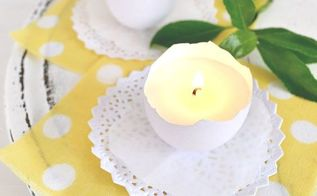 scented eggshell candles perfect for easter or spring, crafts, easter decorations, how to, seasonal holiday decor
