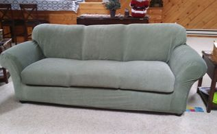 faded couch turns into a beauty, chalk paint, painted furniture