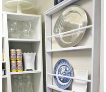diy custom plate rack for under 40, closet, kitchen design, shelving ideas, wall decor