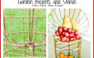 vegetable fruit bin made with hanging garden baskets and stands, crafts, organizing, repurposing upcycling, storage ideas